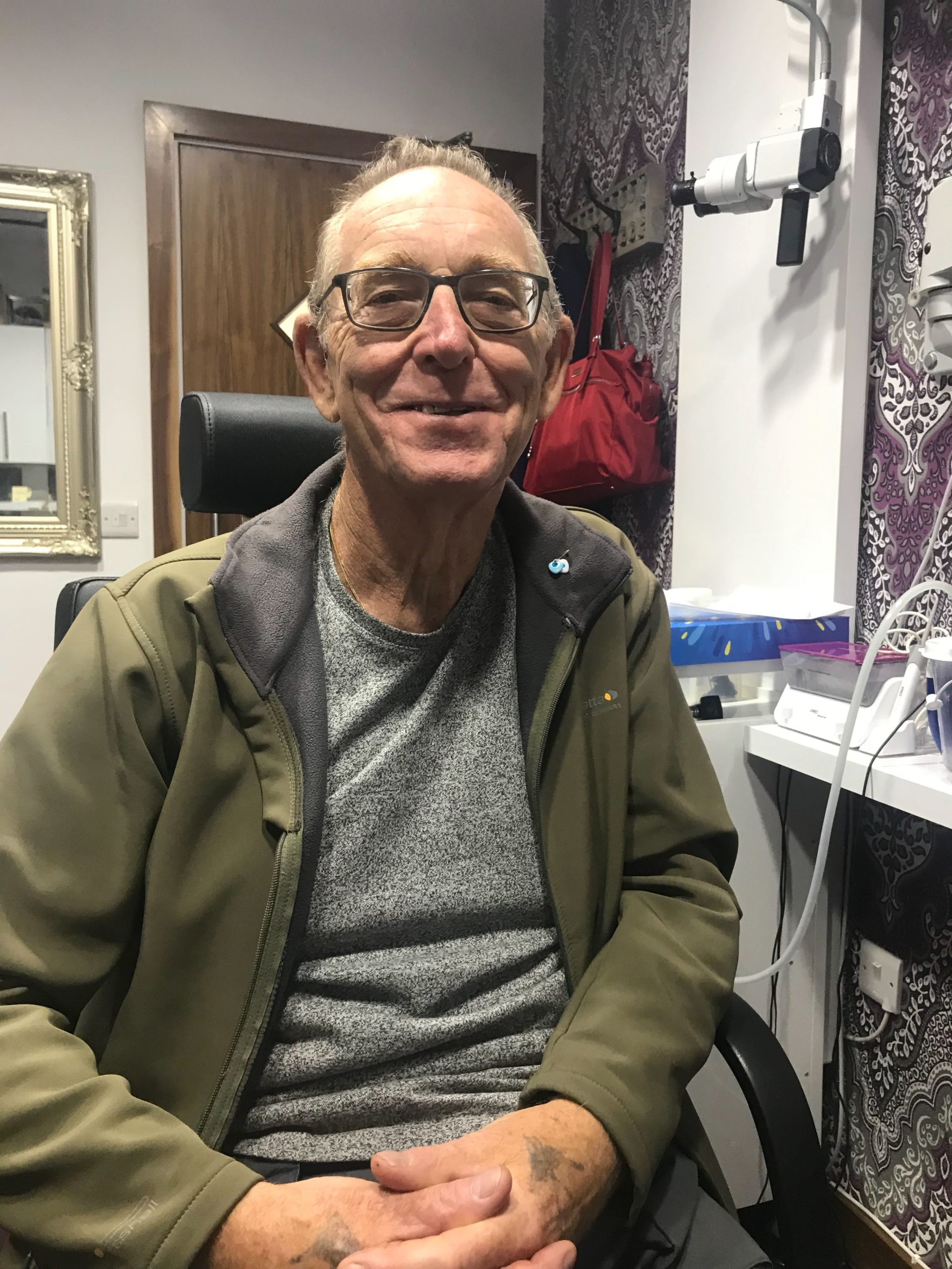 Dennis Waite Fitted With Hearing Aids!