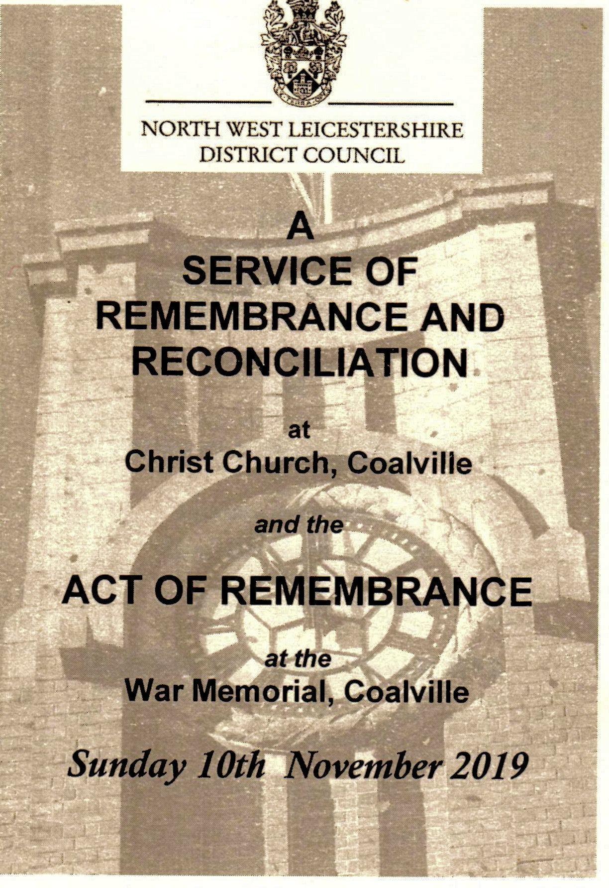 Coalville, Leicestershire Remembrance Service